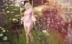 Look 405 - Petals of Rose (KittyVonCat and Helena Jansma) Tags: ersch gimmegacha gachaland stardust doe halfdeer leform cubiccherry bubble
