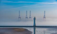 Sea mist at New Brighton. (Ade McCabe) Tags: beach sky liverpoolbay liverpool rivermersey mersey estuary estuaries newbrighton perchrock lighthouse sand mist seamist seascape nikond750 d750 nikon sigma sigma70200mm