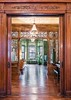 Brooklyn Jefferson Avenue (techpro12) Tags: newyork parkslope brownstone room interior old historic woodwork partition ornate fretwork parquetry floors victorian mirror stained glass stainedglass foyer door