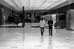 Museu del Bicentenario. (ArSalles) Tags: people museudelbicentenario argentina buenosaires trip travel vacations sights sightseeing arcchitecture building blackandwhite monochrome view canon7d indoor canon pov art inside wall street urban sidewalk city