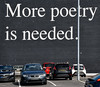 More Poetry! (Nikki M-F) Tags: swansea uk wales words wall carpark message pole