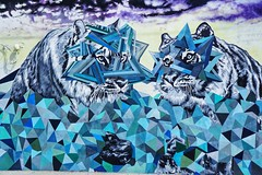 Miami art (g_4life101) Tags: sony icle6000 a6000 sel1855 miami wynwood artdistrict southflorida lion tiger art alpha florida