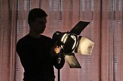 Making Movies # 1 Gaffer (just.Luc) Tags: spot spotlight man male homme hombre uomo mann silhouette silhouet belgië belgien belgique belgica belgium vlaanderen flandres flanders light licht lumière