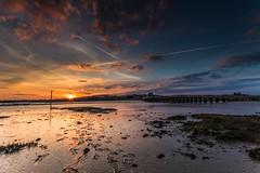 Shoreham Sunset (E_W_Photo) Tags: shoreham shorehamtollbridge riveradur sussex england uk sunset orange river leefilters canon 80d sigma 1020mm bridge clouds