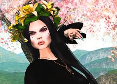 Look 053-2018 (Rehana Seljan (Japan)) Tags: secondlife sl 3d game rehanaseljan rehana fashion newrelease on9 azul lode gacha kunglers purepoison kustom9 slackgirl ebento moon bloom posesion lelutka maitreya deetalez s0ng