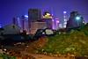 Zburzenie / Demolition / 拆 (luigiluib) Tags: 160sec f18 iso2000 24mm af24mm f18g shutterpriority 3130k nikond500 shanghai szanghaj china chiny noc nocne night nigtscape lujiazui demolished zdemolowane chn 拆 旧的不去新的不来 上海 中国