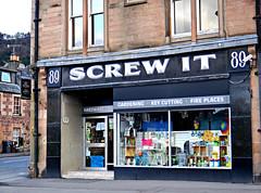 Screw It (Colorado Sands) Tags: shop shopping building window mainstreet callander scotland uk unitedkingdom gb greatbritain screwit 89mainstreet hardware keycutting sign hardwarestore