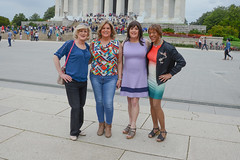 Touring The Nation's Capital! (kaceycd) Tags: crossdress tg tgirl lycra spandex minidress pantyhose supporthose sandals peeptoesandals opentoesandals highheels sexysandals wedges opentoewedges wedgesandals s washingtondc lincolnmemorial