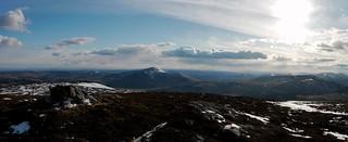 The summit of Badanadun Hill looking towards Mount Blair