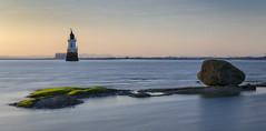 Plover Scar Light. (miketonge) Tags: ploverscarlighthouse plover scar lighthouse cockersands lancashire sunset heysham lune estuary