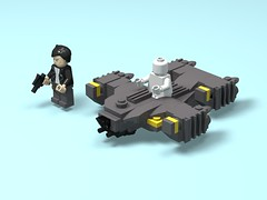 The Raza (xadrian) Tags: darkmatter lego moc microfighter scifi