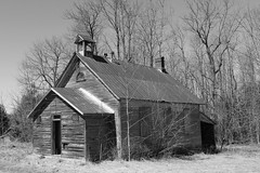 School 4 Section East (pegase1972) Tags: school house one room rural old building vintage historical small wooden historic schoolhouse tower background structure education country