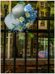 Hanging Up The Hat (prima seadiva) Tags: centraldistrict decharlenes hat fence memorial beautyshop chs