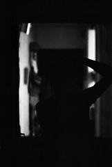 avec mon double (hugobny) Tags: caffenol cl semistand push pushed 1600iso 1600 400 fomapan action blackwhite film argentique analogue analog analogique autoportrait self portrait pentax p30 pentaxp30 pentaxlens smc f18 55mm