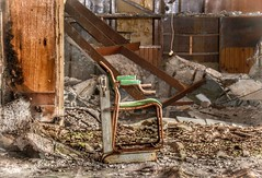 Weighing In On Memories (Michelle O'Connell Photography) Tags: asylum scottishhospital hospital sanitorium abandoned derelict mentalinstitute mentalhospital victorianmentalinstitution chair weighingchair abandonedchair scotland urbex urbexgrime urbexexploring michelleoconnellphotography