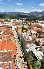 Aerial View Trinidad Cuba (davidsharp159) Tags: cuba trinidad street streetscene streetphotography streetshot streets urban urbanlandscape sky view aerialview birdseyeview cloud