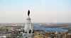 View from the 37th floor of Two Liberty  Place (pontla) Tags: philadelphia river williampenn libertyplace cityhall panorama statue