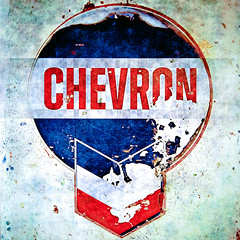chevron / prcssd. desert center, ca. 2014. (eyetwist) Tags: eyetwistkevinballuff eyetwist processed prcssd photoshop lensblur vignette texture secretrecipe digixpro square supersaturated signaltonoise postprocessed typographic typography graphic blue postprocessing type signs signage text letters sign california gas gasoline service shield badge red white chevron supreme fuel petrol abandoned cracked peeling faded pumps logo desertcenter old vintage oil american west roadsideamerica americantypologies nikon d7000