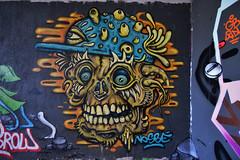 skull (HBA_JIJO) Tags: streetart urban graffiti paris art france hbajijo wall mur painting skull peinture nosbé spray urbain charactere monster