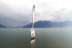 Lake with an fork (william_ko) Tags: lake switzerland longexposure vevey lacleman ake minimalism
