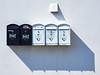 Black mail and white mail (Ulrich Neitzel) Tags: ålesund black box briefkasten mzuiko1240mm mail norge norway norwegen olympusem1 post repetition schatten schwarz shadow wall wand weiss white wiederholung