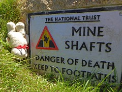 Pendeen to St Just walk DT Mineshaft (g crawford) Tags: crawford cornwall cornish dangerted ted dt teddy teds teddies bear toy