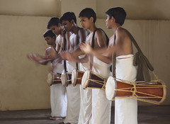 Kathakali Training (Sharpshooter Alex) Tags: kathakali training drums school art music india indian asia culture boys male