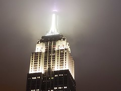 Empire State Building (Joe Shlabotnik) Tags: skyscraper manhattan archerhotel empirestatebuilding galaxys9 cameraphone may2018 newyorkcity nyc rooftop spyglassbar 2018 faved