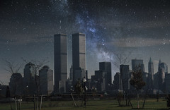 New York City | 1999 (Luis Perdigao) Tags: newyork nightphotograph milkyway worldtradecenter wtc