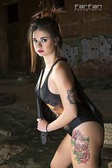 Barbara (Jose Luis Farfan) Tags: barbara farfan modelo model mujer woman chica girl bañador cazadora cuero color nave naveabandonada tacones tatus tatuajes pelirroja belleza