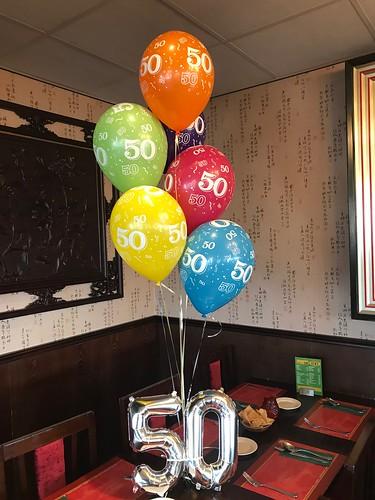 Tafeldecoratie 5ballonnen Pak Boli Spijkenisse