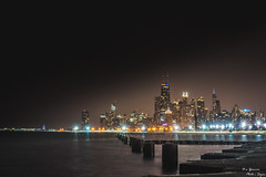 Over the Lake (yarnim) Tags: lakemichigan michigan illinois chicago skyline cityscape nightscape nightphotography city sony a7iii sonyfe a7m3 55mm sel55f18z longexposure lowlight lake landscape building architecture