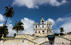Our Lady of the Immaculate Conception Church (L.o.n.e T.r.a.v.e.l.l.e.r) Tags: church goa religion christianity portugese konkani baroque masses augustine 1541 15thcentury panjim panaji india explore vjphotography architecture palmtrees