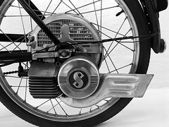Hercules Saxonette (Nick_Fisher) Tags: saxonette torpedo moped zweirad museum nickfisher hercules motorized bicycle bike