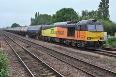 Blessed Tugged Tanks (JohnGreyTurner) Tags: br rail uk railway train transport barnetby lincolnshire freight diesel engine locomotive 60 class60 tug colas tanks