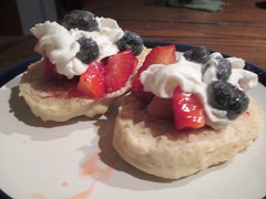 Strawberry and Blueberry Shortcake (Pictures by Ann) Tags: fiveinarow food homeschool homeschooling homeeconomics homeec olivia strawberryandblueberryshortcake strawberry blueberry shortcake dessert whippedcream blueberries strawberries freshfruit fruit summer tradition delicious