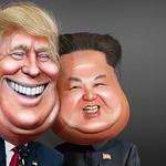 Donald Trump and Kim Jong-un - Caricatures