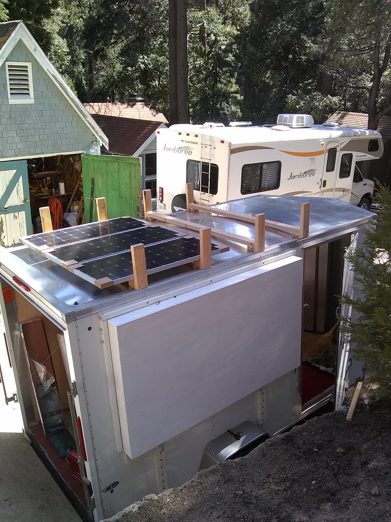 Nice Weather and Progress Continue (nomadhappyyes) Tags cargo trailer conversion rv & The Worldu0027s most recently posted photos of diy and tent - Flickr ...