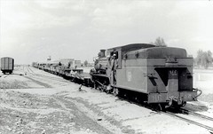 Iraq Railways - Iraqi State Railways 4-6-0 steam locomotive Nr. 144 (Nasmyth, Wilson Locomotive Works 896 / 1909) at Kirkuk, 19 March  1967 (HISTORICAL RAILWAY IMAGES) Tags: العراق iraq railways isr steam locomotive train كركوك