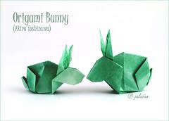 origami bunny (polelena24) Tags: origami bunny rabbit hare easter square onesheet