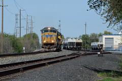 Work Train at South Chico (NikonRailfan24) Tags: sd70m up union pacific california chico valley subdivison