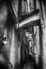 Manarola (Cinque Terre) Italy (www.streetphotography-berlin.com) Tags: street streetphotography streetlife blackandwhite blackwhite monochrome narrow alley old town fineart man alone light shadow silhouette manarola cinque terre italy