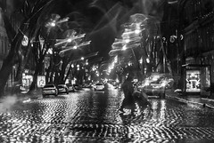 street (photoksenia) Tags: street night blackandwhite bw rain odessa monochrome