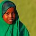 Portrait of a somali girl in green hijab, Woqooyi Galbeed region, Hargeisa, Somaliland