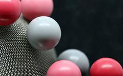 balls on hemisphere (AvesAg) Tags: canon eos 6d macromondays circles round rund grey pink ball bälle kugeln