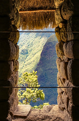 Through the Hole in the Wall (benjamin.t.kemp) Tags: window hole scenerie peru stone valley mountain green stonework frame composition