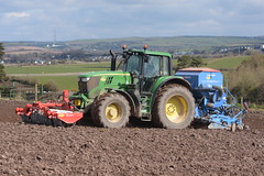 John Deere 6195M Tractor with a Twose FP1-300 Premium Front Press and a Lemken Solitair 8 Seed Drill (Shane Casey CK25) Tags: john deere 6195m tractor twose fp1300 premium front press lemken solitair 8 seed drill jd green midleton sow sowing set setting drilling tillage till tilling plant planting crop crops cereal cereals county cork ireland irish farm farmer farming agri agriculture contractor field ground soil dirt earth dust work working horse power horsepower hp pull pulling machine machinery grow growing nikon d7200 trekker traktor traktori tracteur trator ciągnik