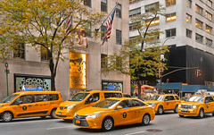 yellow cab (poludziber1) Tags: street streetphotography summer city colorful cityscape color ny nyc newyork manhattan urban usa travel traffic cars