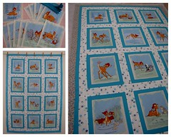 """""""BAMBI"""" - Little Quilt (Patchwork Daily Desire) Tags: quilt quilted quilts patchwork pattern quilting binding batting blocks blanket blue white water winter bambi flower forest animals wild crafts crochet cozy coffee cookies"""