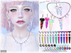 [ bubble ] Unicorn Horn Jewellry (::: insanya ::: & [ bubble ]) Tags: secondlife bubble originalmesh accessories jewelry unicorn earrings necklace metals mesh hud exclusive theseasonsstory